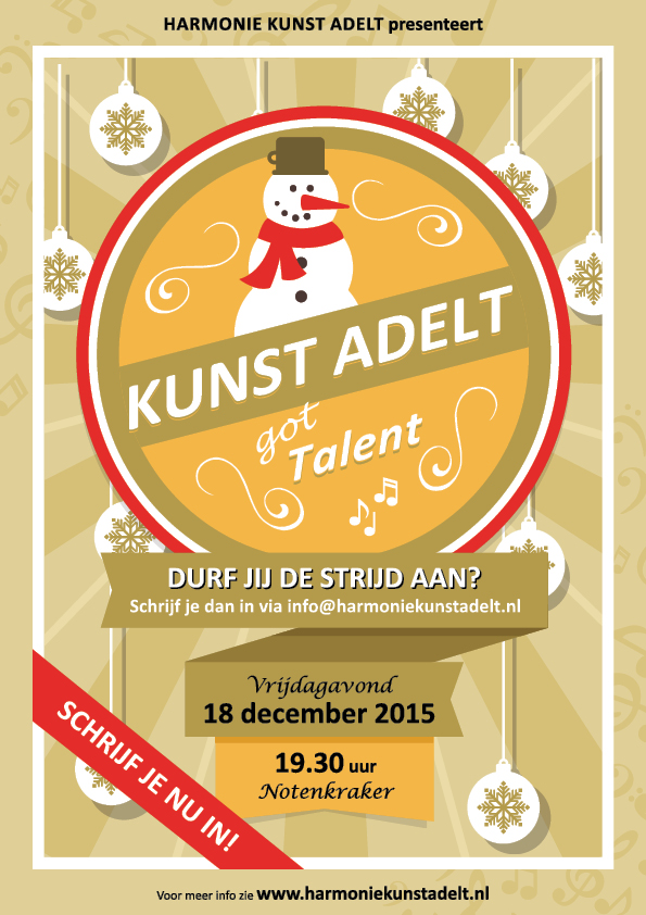 'Kunst Adelt got Talent' poster_DEF LR