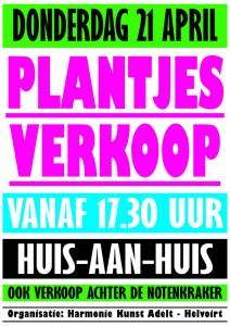 plantjesverkoop affiche 2016 kleur